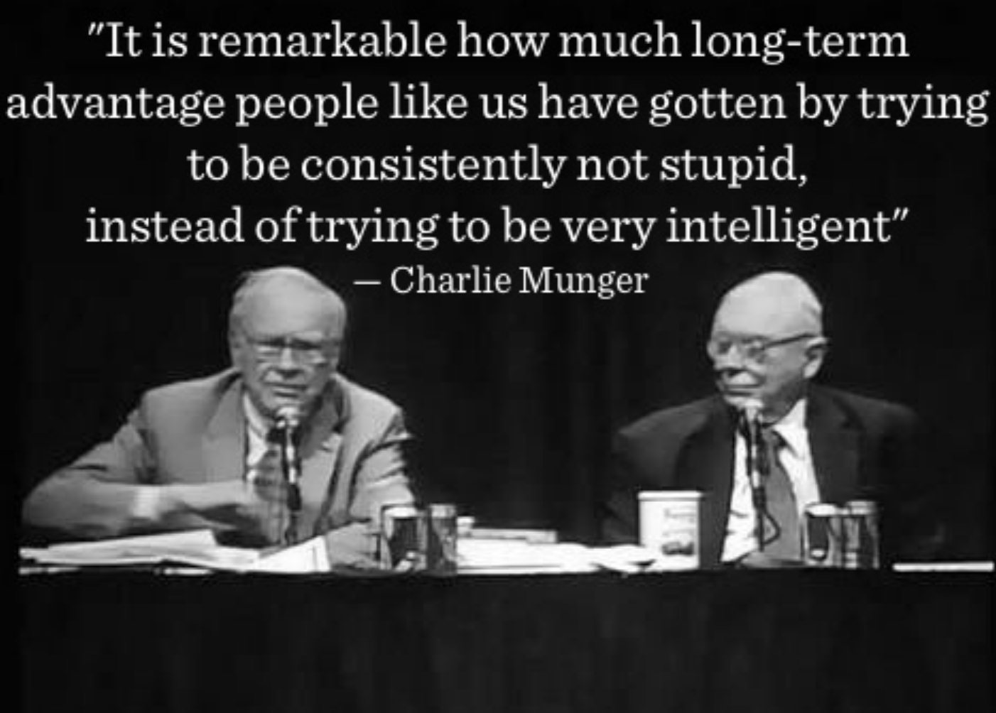 Image result for munger on not being stupid