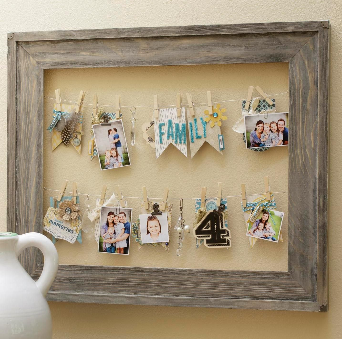 31 Rustic Diy Home Decor Projects: Barnwood Frame Home Decor Created By Sarah Owens. Inspired