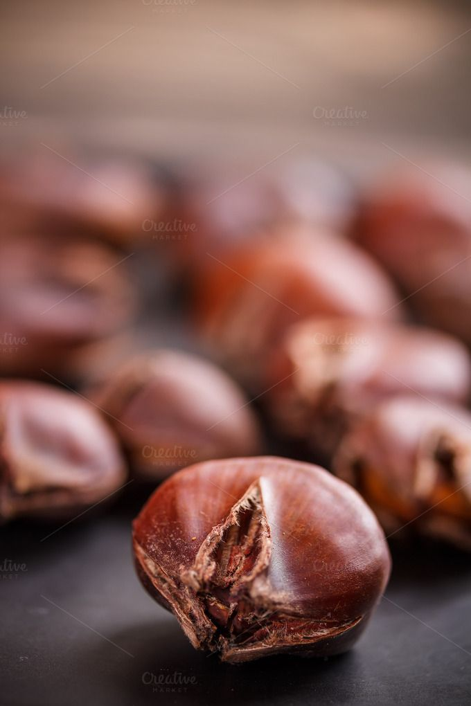 Check out Edible chestnuts by Grafvision photography on Creative Market
