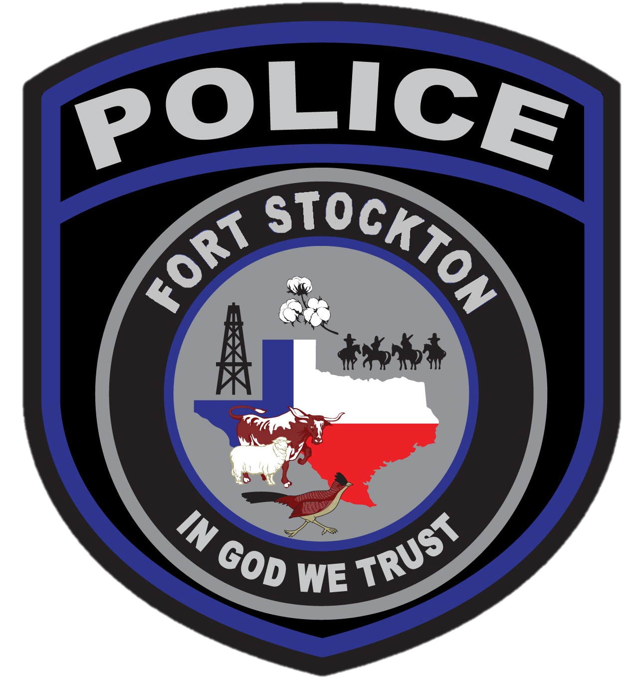 2018 New Fort Stockton Police Patch Texas Police Patches Texas Police Fort Stockton
