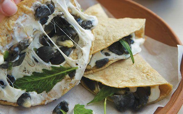EXCELENTE ANTOJITO. Esta quesadilla de huitlacoche te encantará. MEZCLA la masa…
