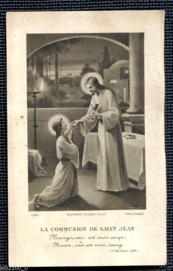 Image Pieuse Holy Card Santini Boumard La Communion de St Jean | eBay
