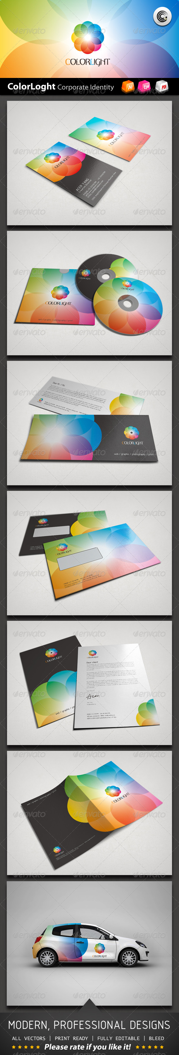 Color Light Corporate Identity  Corporate Identity Colour Light