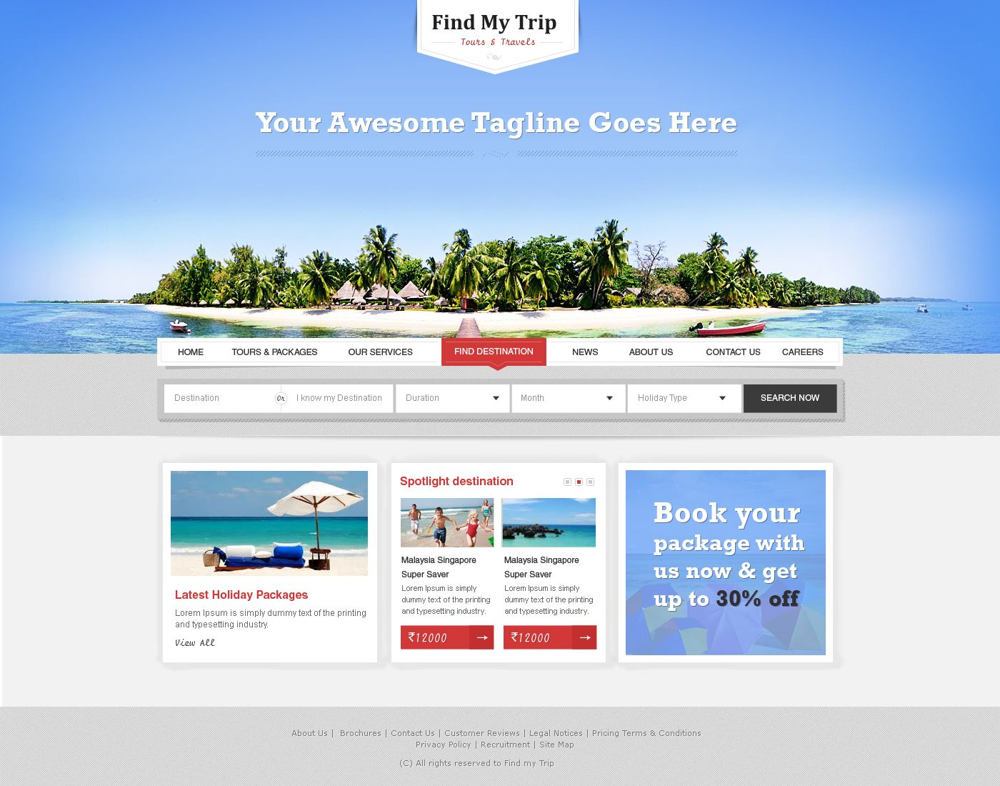 Travel Company WordPress Theme by prkdeviant.deviantart.com on ...