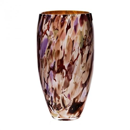 Bodenvase Braun Lila Jozefina 38cm Aus Glas Geschenke Aus Glas