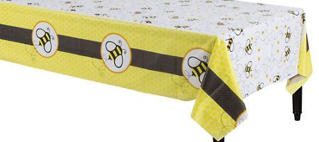 Bumble Bee Baby Shower Table Cover 54in X108in