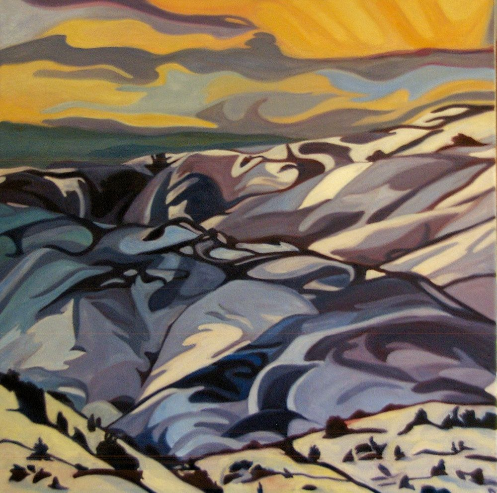 Sierra Madre Tryptch Fine Art Painting Wyoming. $2,300.00, via Etsy.