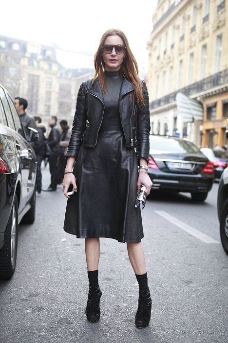 Ece Sukan. all black. all #leather. #modeststreetwear