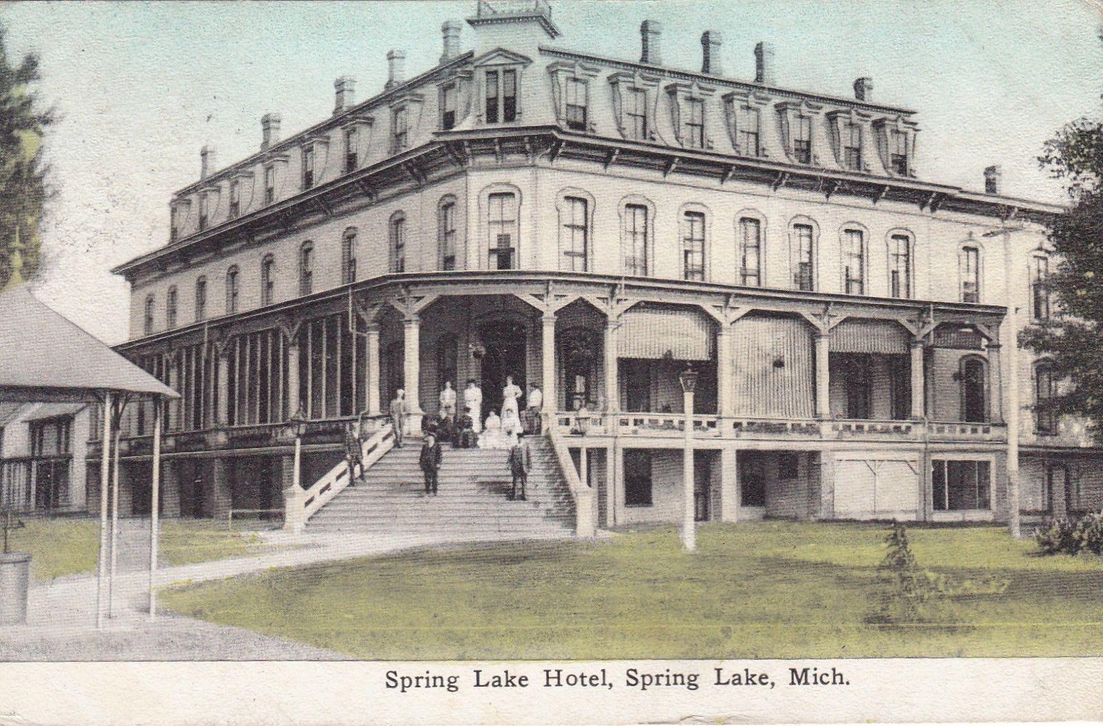 Spring Lake Mi Michigan Postcard The Hotel Grand