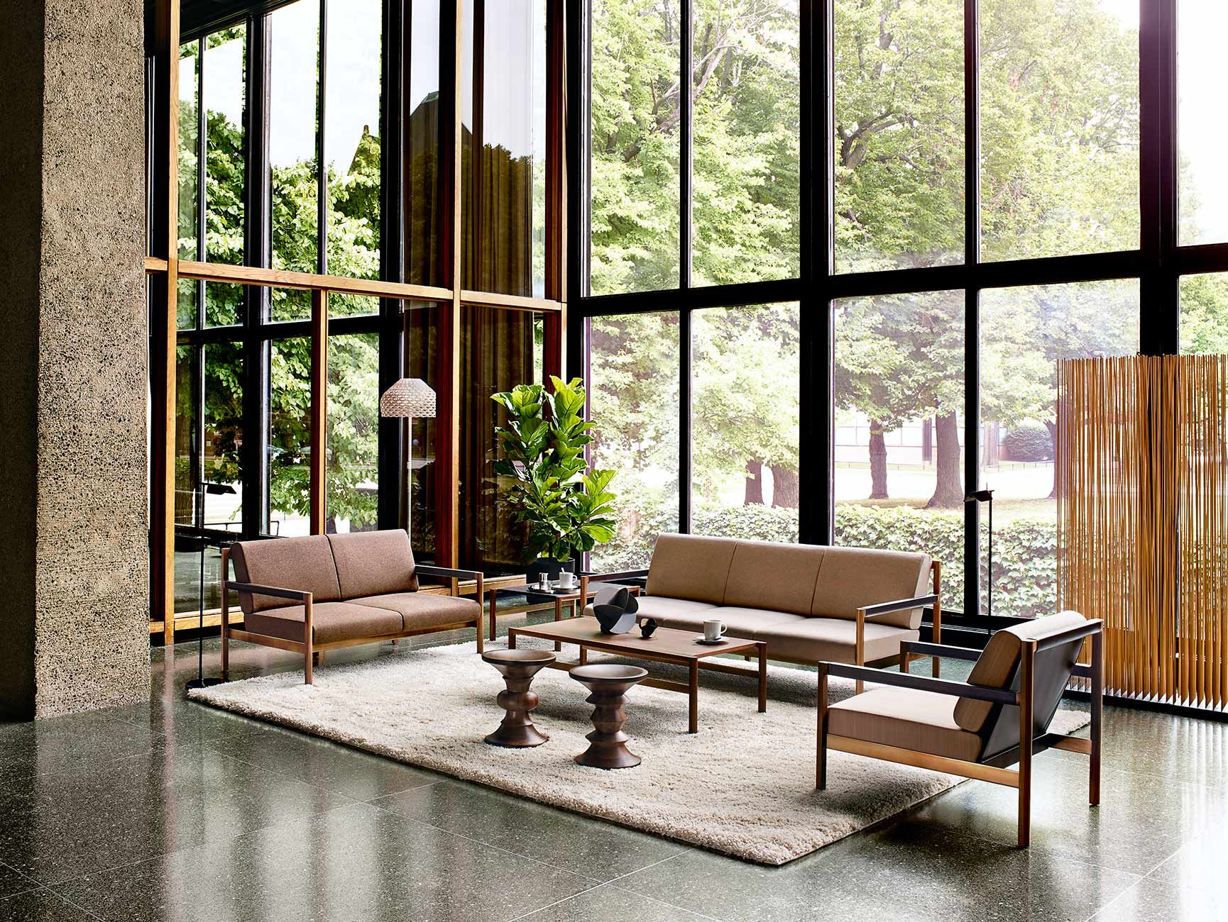 Family room herman miller eames chairs - Herman Miller Collection Brabo Lounge Family Eames Walnut Stools