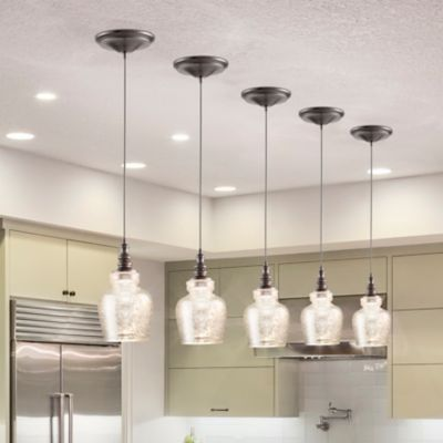 This Pendant Light Offers An Easy Way To Convert A Recessed Light Into A Hanging Pendant I Recessed Light Conversion Kit Recessed Lighting Glass Pendant Light