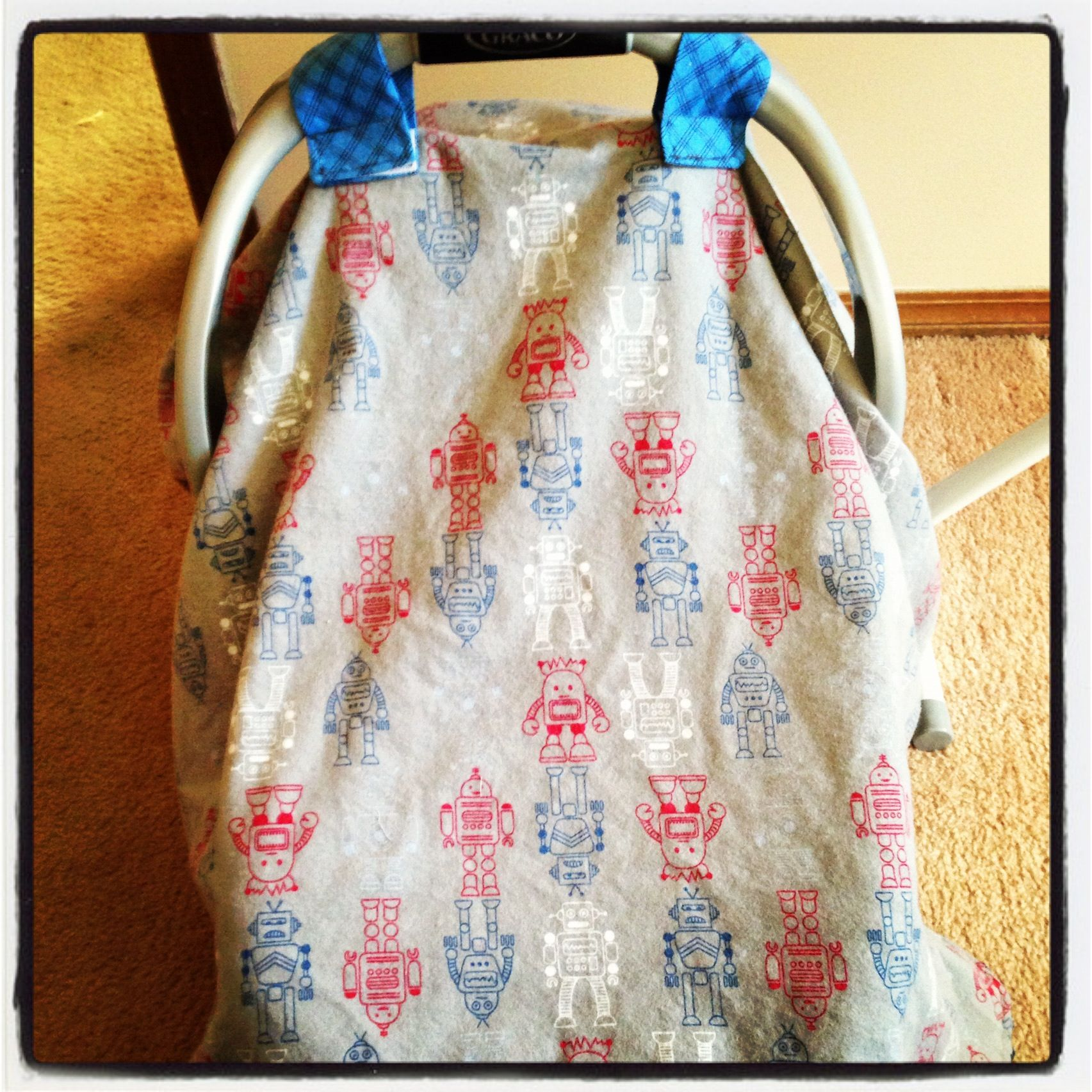 Diy carseat canopy with robots baby sewing projects diy