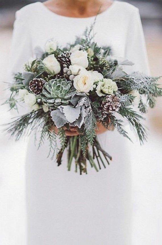 Brautstrauß, Hochzeitsstrauß, Winterstrauß, auf Bestellung gefertigt winter wedding - Hochzeit Ideen #silkbridalbouquet