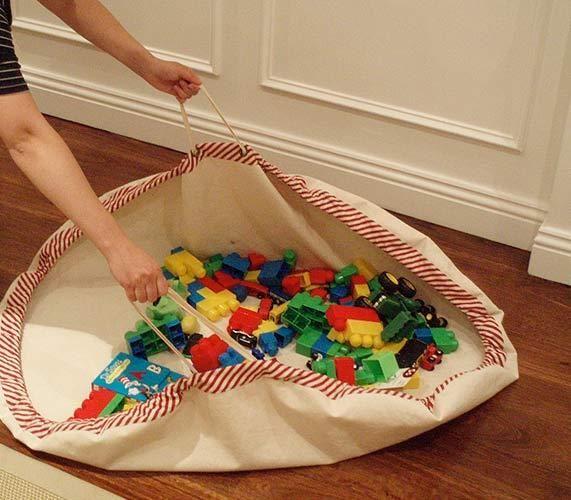 Lego Play Mat Into Storage Bag