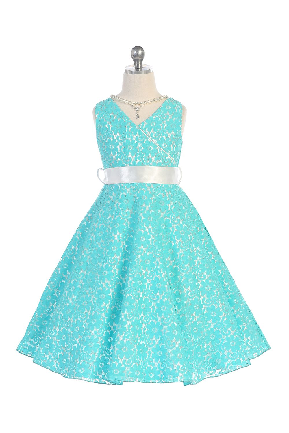 Turquoise Lace Floral Junior Bridesmaid I LOVE THIS | Vilu Style y ...