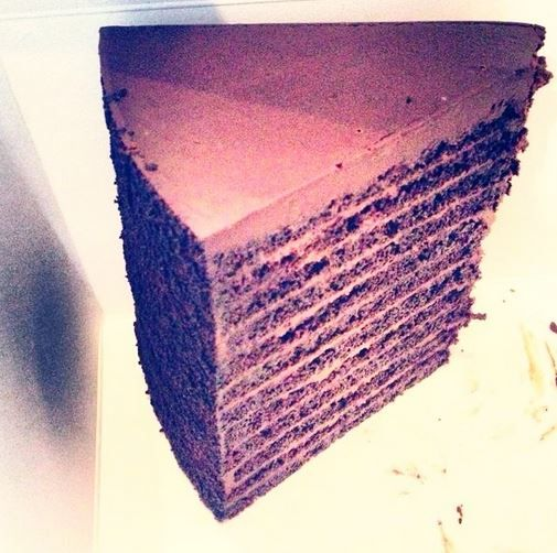 The Famous 24 Layer Cake At Strip House In New York Ny Food Map Nyc Food