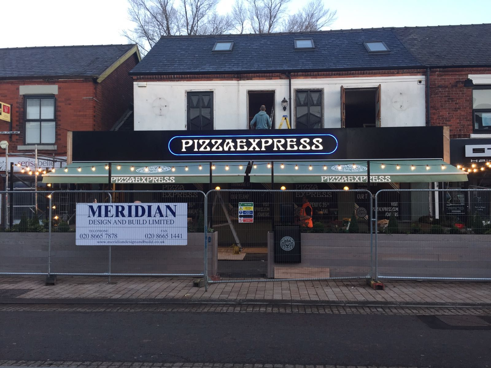 New Awnings For Pizza Express In Stockport Even Behind The