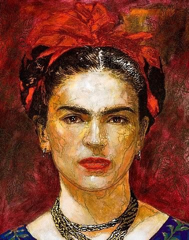 Solamente Frida by George Yepes. This is the nicest portrait I've seen of Frida.