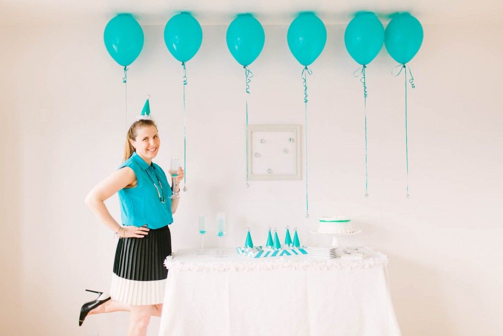 Blue and white birthday party. This Is A Birthday Party But Can Be New Year's Eve Party Too With The Disco Balls