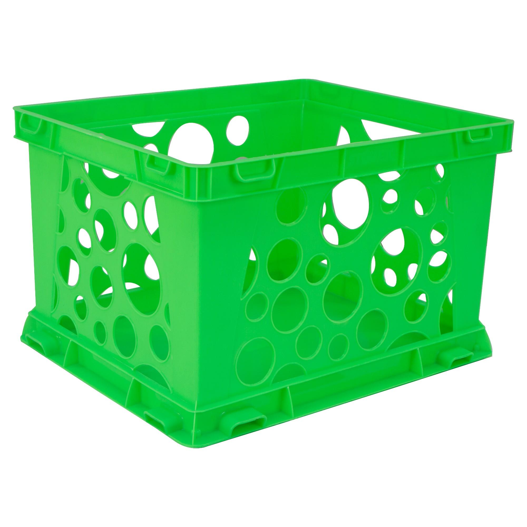 tubs storage mini target green neon storex stackable crate tub pin