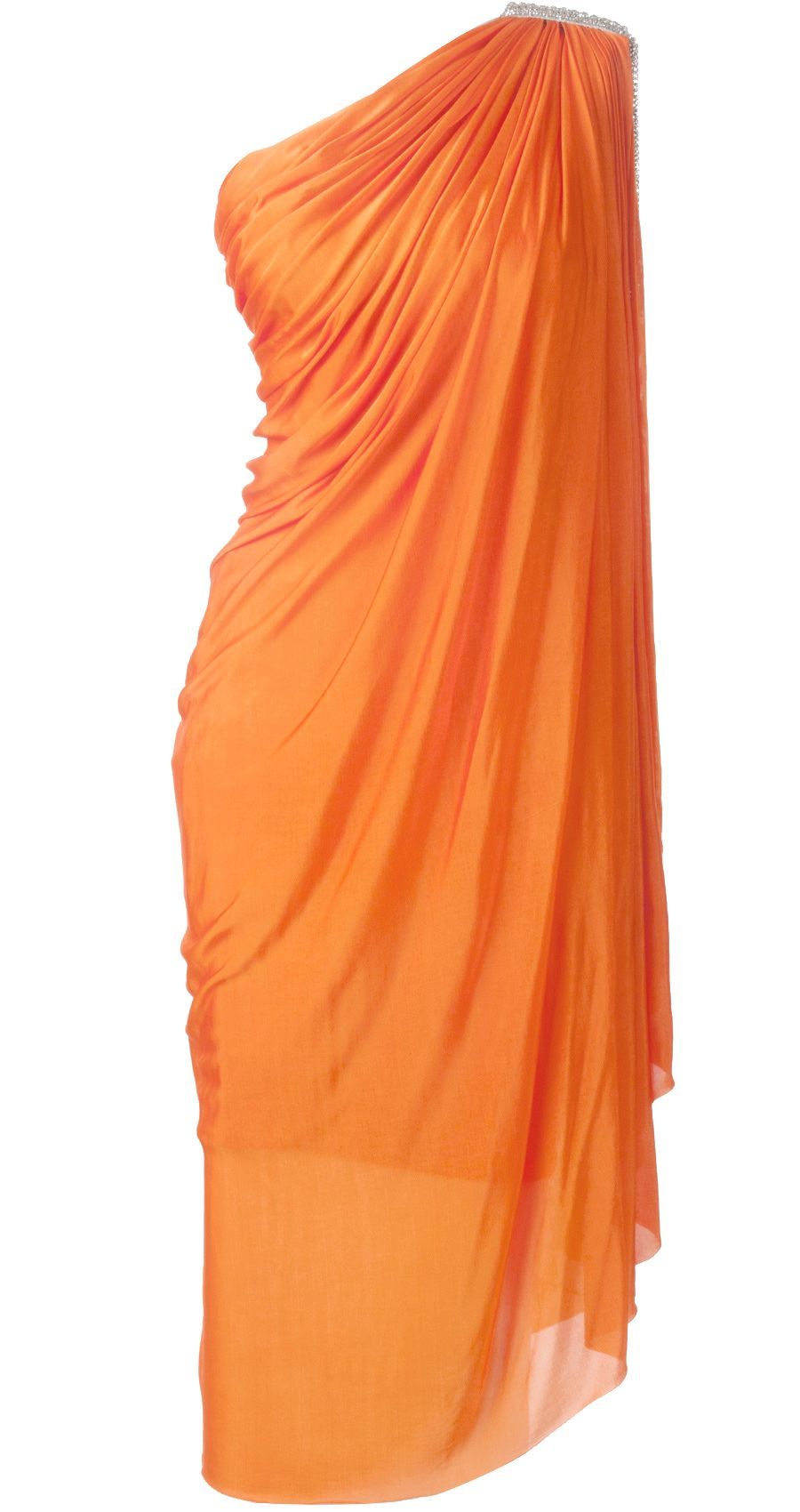 Orange cape dress available only at perniaus popup shop fancy