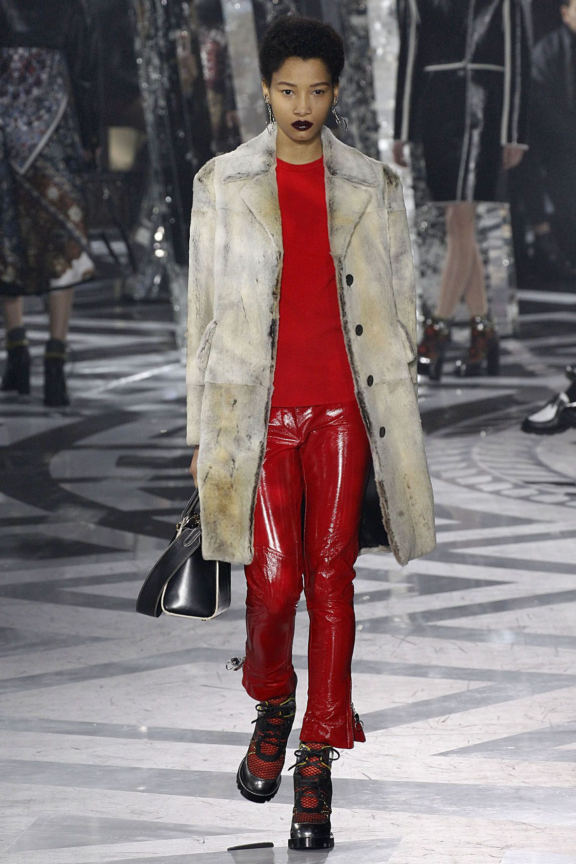 Louis Vuitton A/W 2016 Red leather jacket, Fashion