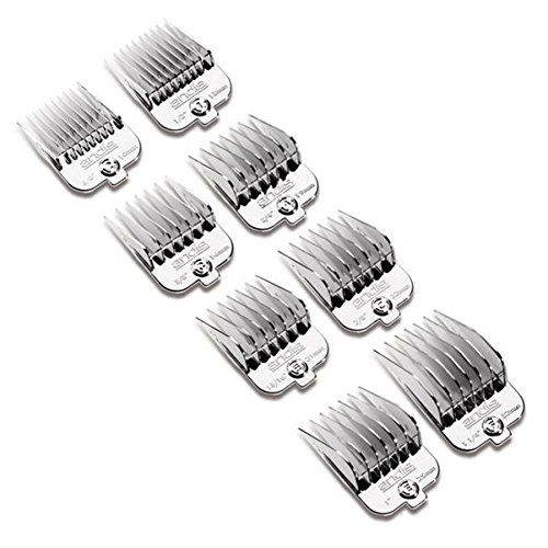 Andis 8 Piece Chrome Plated Magnetic Pet Clipper Comb Set Pet Grooming Tools Dog Grooming Supplies Dog Grooming Scissors