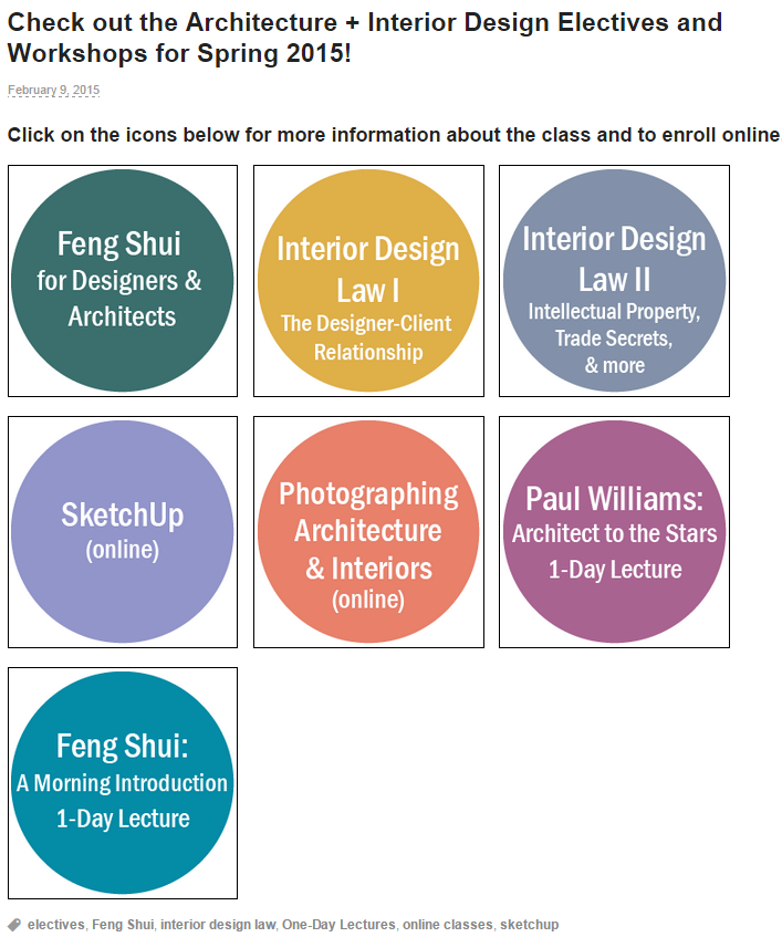 Are you interested in Feng Shui or Interior Design Law? At UCLA Extension Arc+  sc 1 st  Pinterest : ucla extension interior design - zebratimes.com
