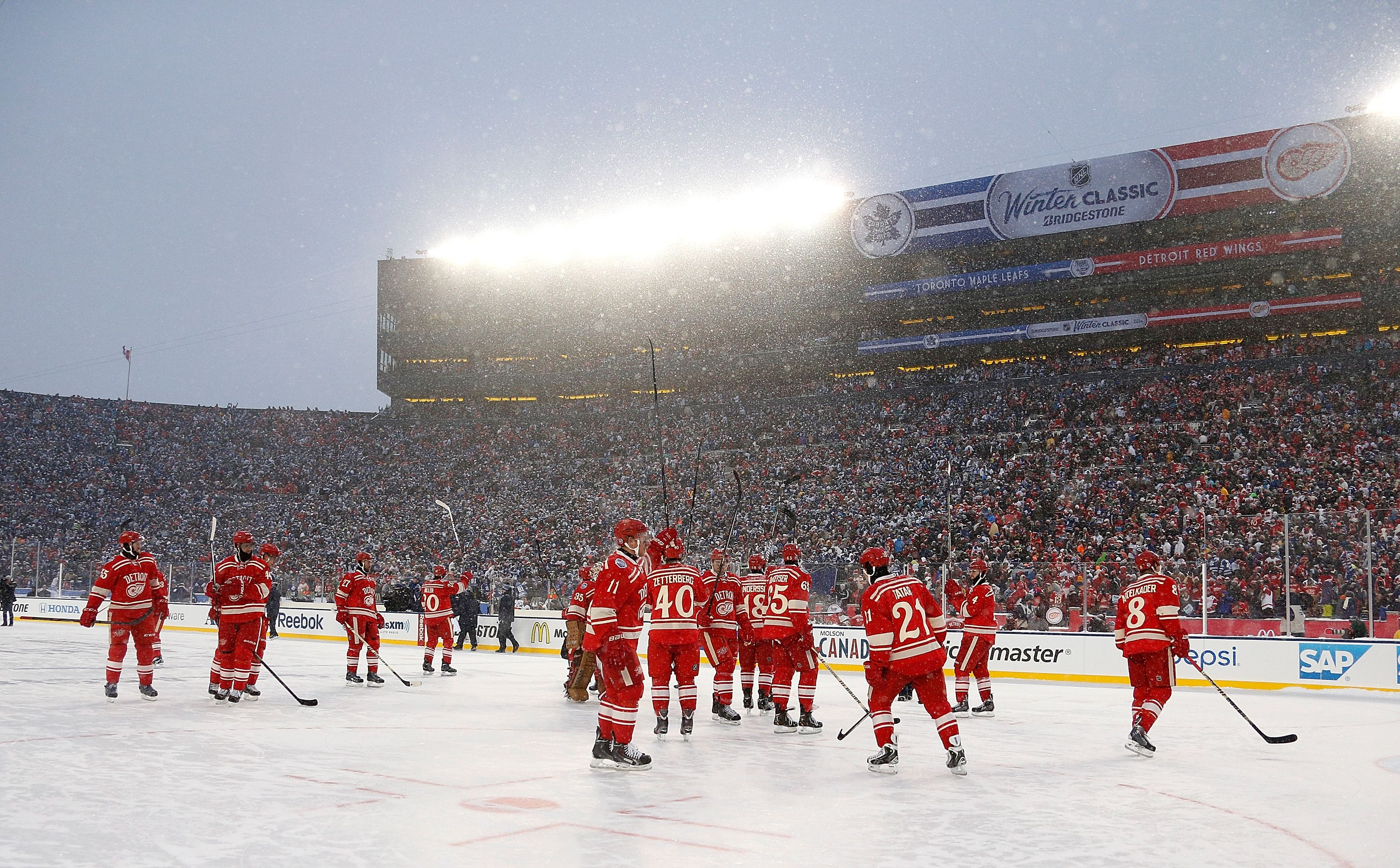 cbb27e8c5 Red Wings at the Big House Nhl Winter Classic