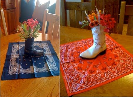 Cowboy Boot Vase Centerpiece Party An Ortment Of Boots For Just