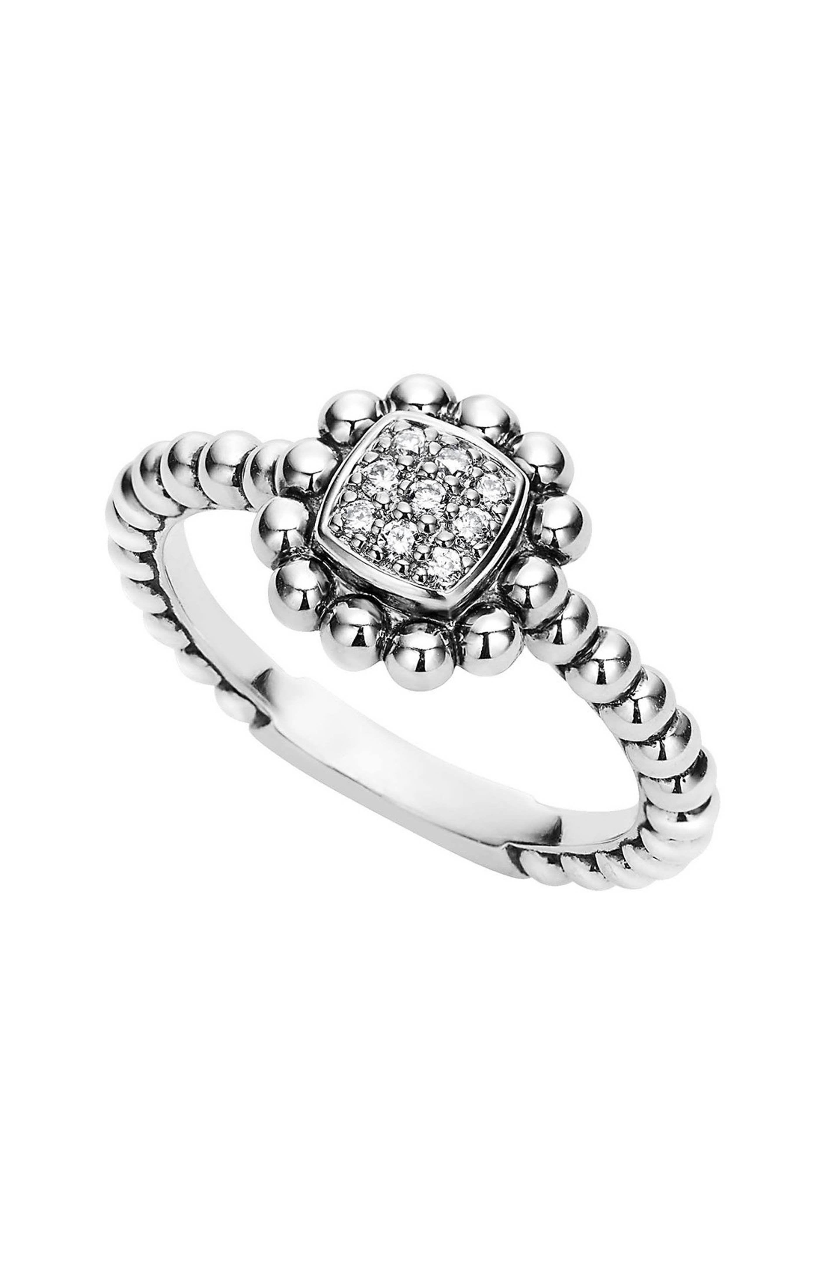 LAGOS Caviar Spark Diamond Square Ring Square diamond