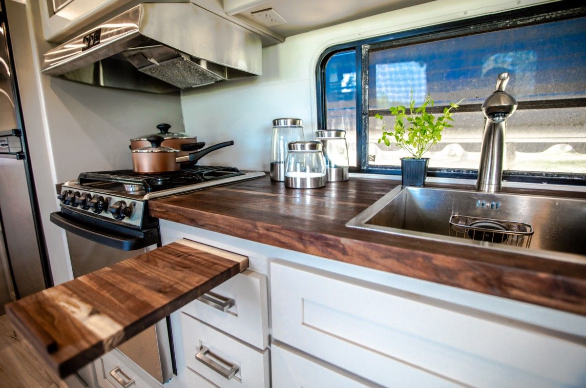1988 rv a filmmakers tinyhome remodel rv kitchen