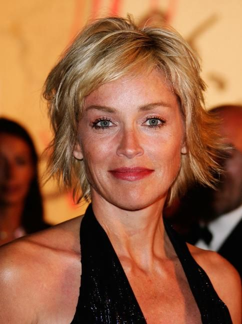 easy hairstyle from sharon stone Coiffures cheveux