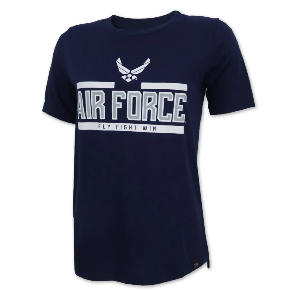 Air force ladies under armour wings logo performance