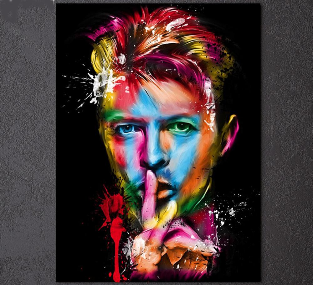 Art print POSTER CANVAS David Bowie as Ziggy Stardust in Concert