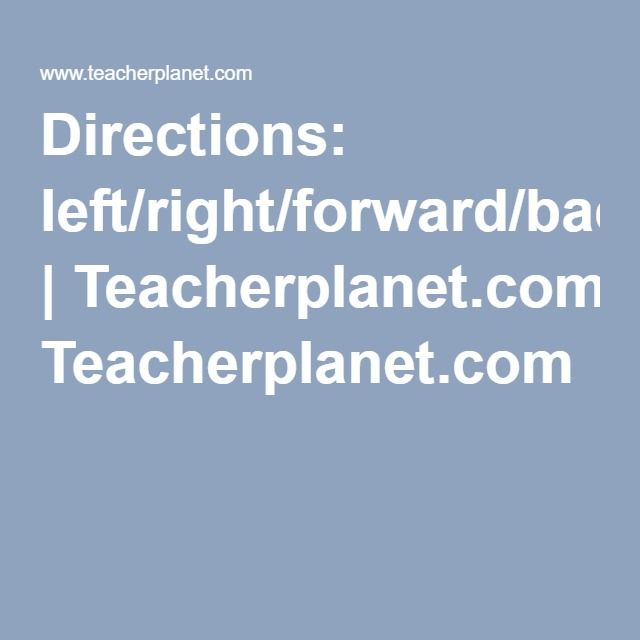 Directions Left Right Forward Back Esl Download Lesson