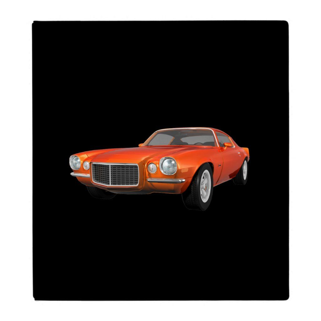 1972 Camaro Z28: Muscle Car: Orange Finish: Binder | Zazzle.com