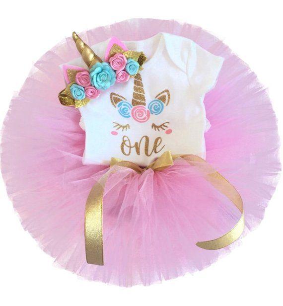 79422ea6ff0e8 Girls 1st birthday unicorn baby outfit - unicorn cake smash set ...