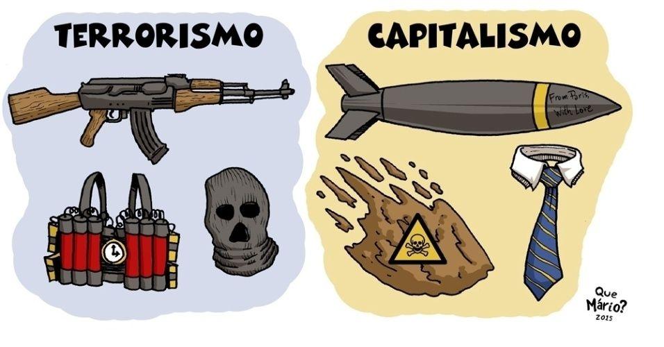 Terrorismo versus Capitalismo: tem diferença?