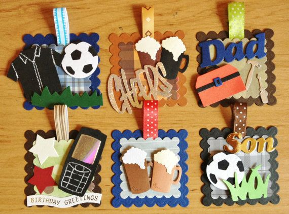 Tools DIY Card Making Toppers Craft Embellishments x 4 Mens Father/'s Day Crafts
