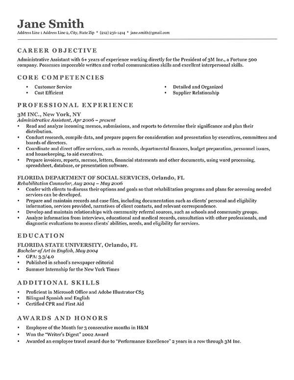 Not sure which introduction is best for your resume? Our  - acting resume format