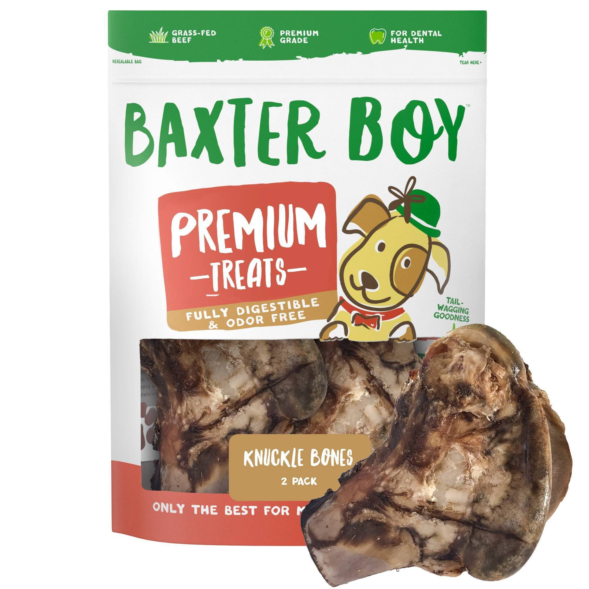 Baxter Boy Knuckle Bone Dog Treats 2pk Dog Treats Treats Dog