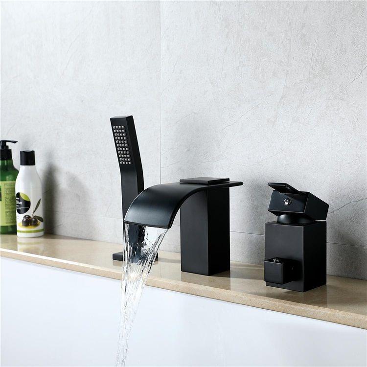 浴槽水栓 バス蛇口 シャワー混合栓 ハンドシャワー付 水道蛇口 3点