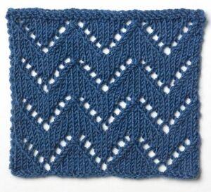 Blog Post | Saturday Night Stitches | Post # 2 : Simple Knit Lace Chevron   #knitting #stitches #fibreandfabrics #crafting #blog