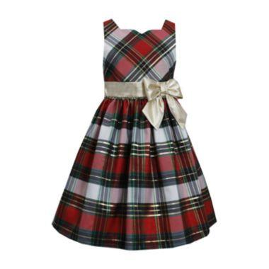 f379b60d Bonnie Jean® Sleeveless Plaid Taffeta Dress – Girls 7-16 found at @JCPenney