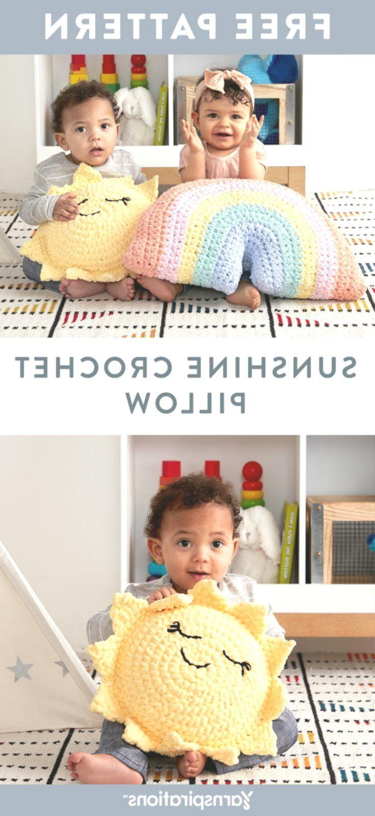 Free Crochet Pattern   Bernat Baby Blanket Sunshine Crochet Pillow   -