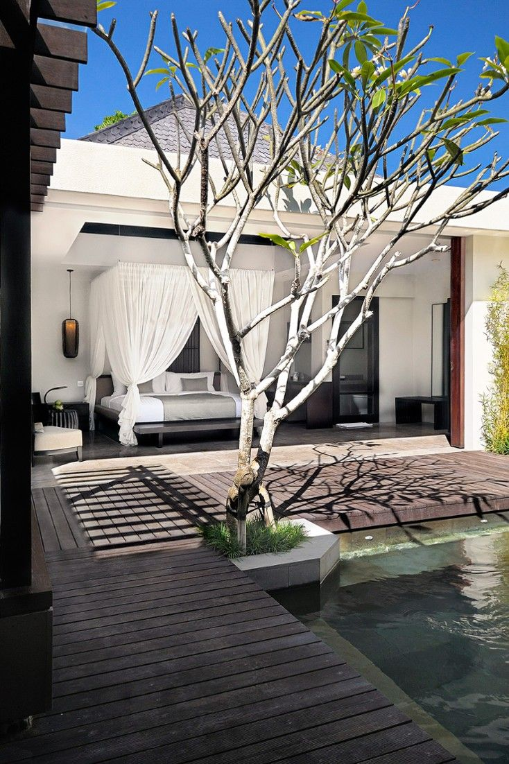 The Amala.   Each villa has a lovely outdoor area with a double steam shower. #Jetsetter