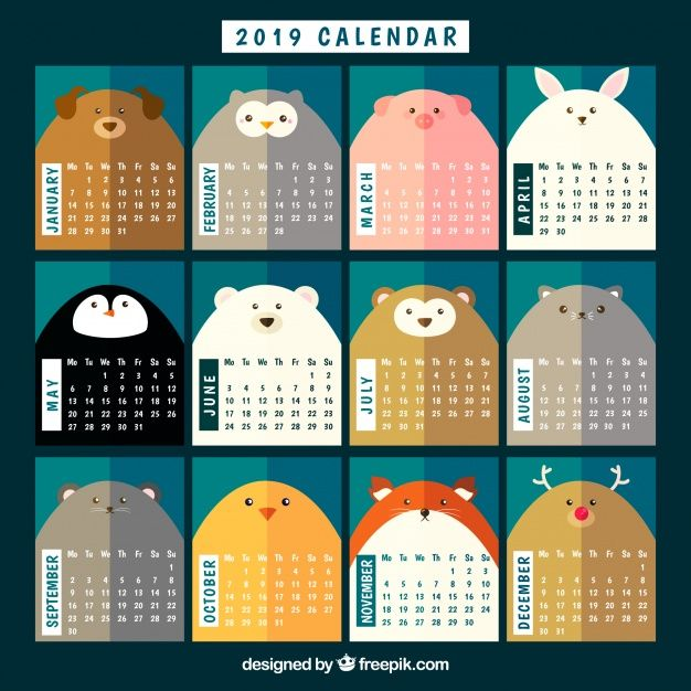 Pin by DocuMaid on 2019 Small Calendars Pinterest Calendar, 2019