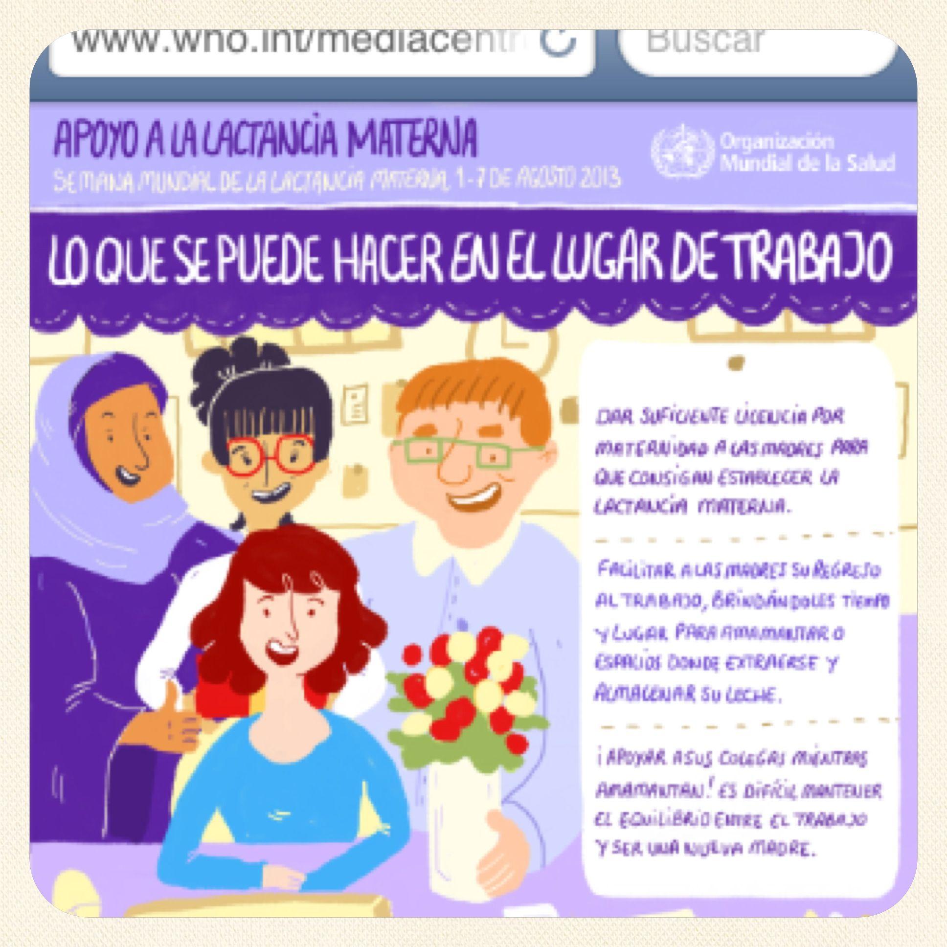 Apoyo a la lactancia materna OMS 2013