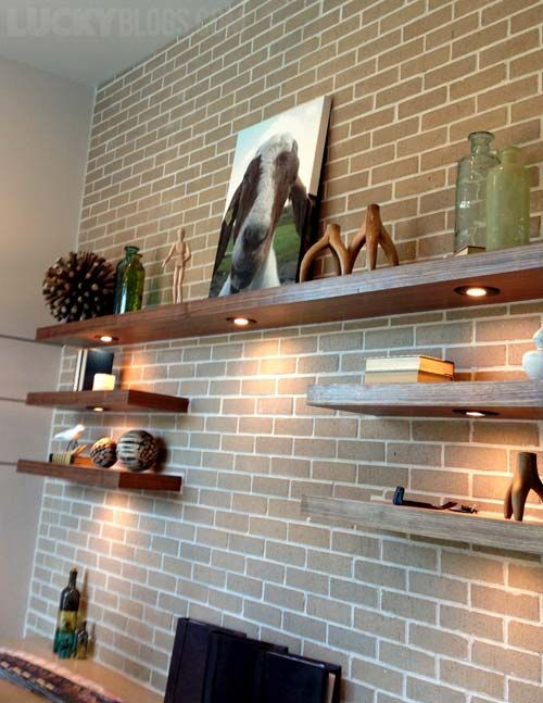 Where Can I Get Floating Shelves With Under Lighting Like This